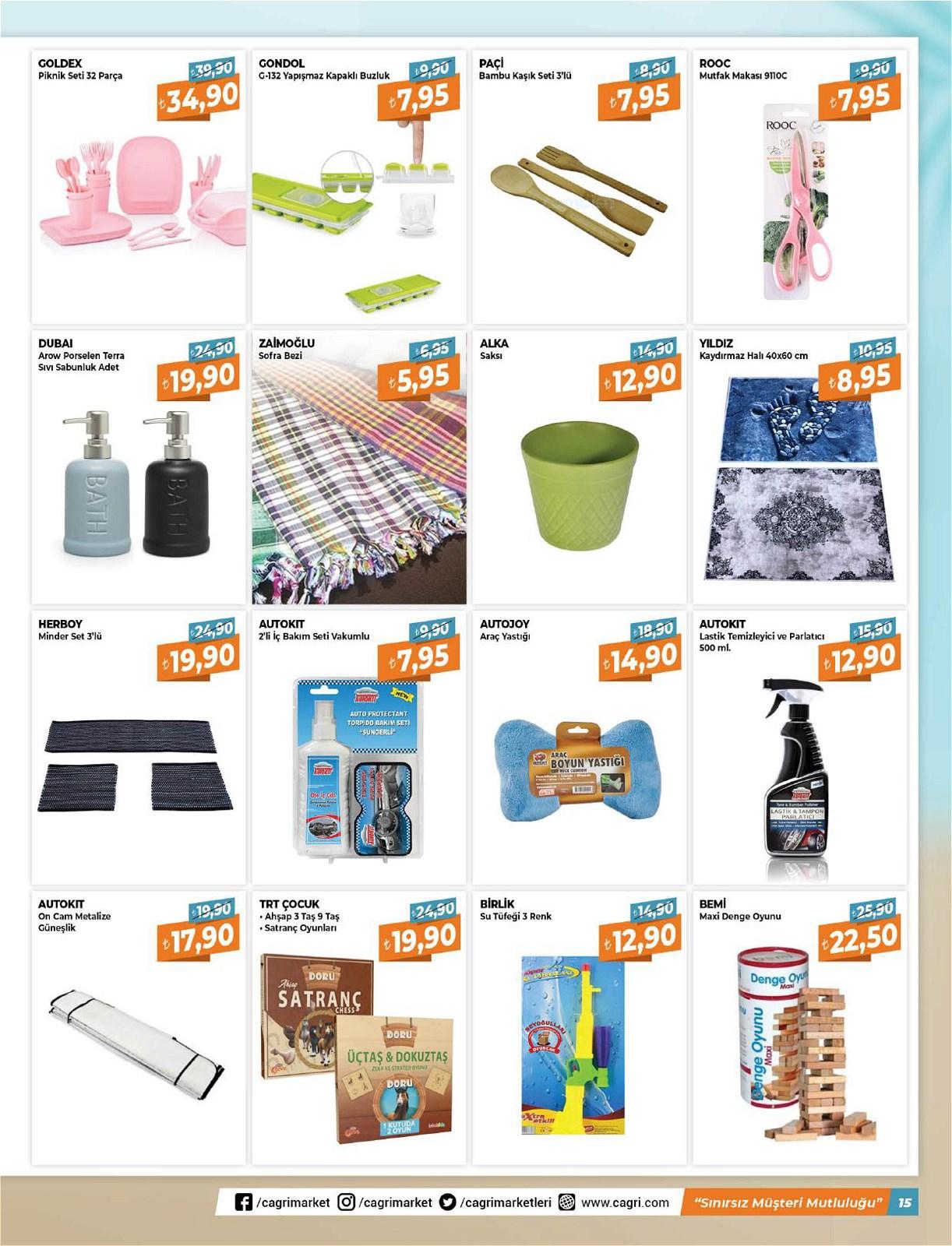 05.06.2021 Çağrı Hipermarket broşürü 15. sayfa
