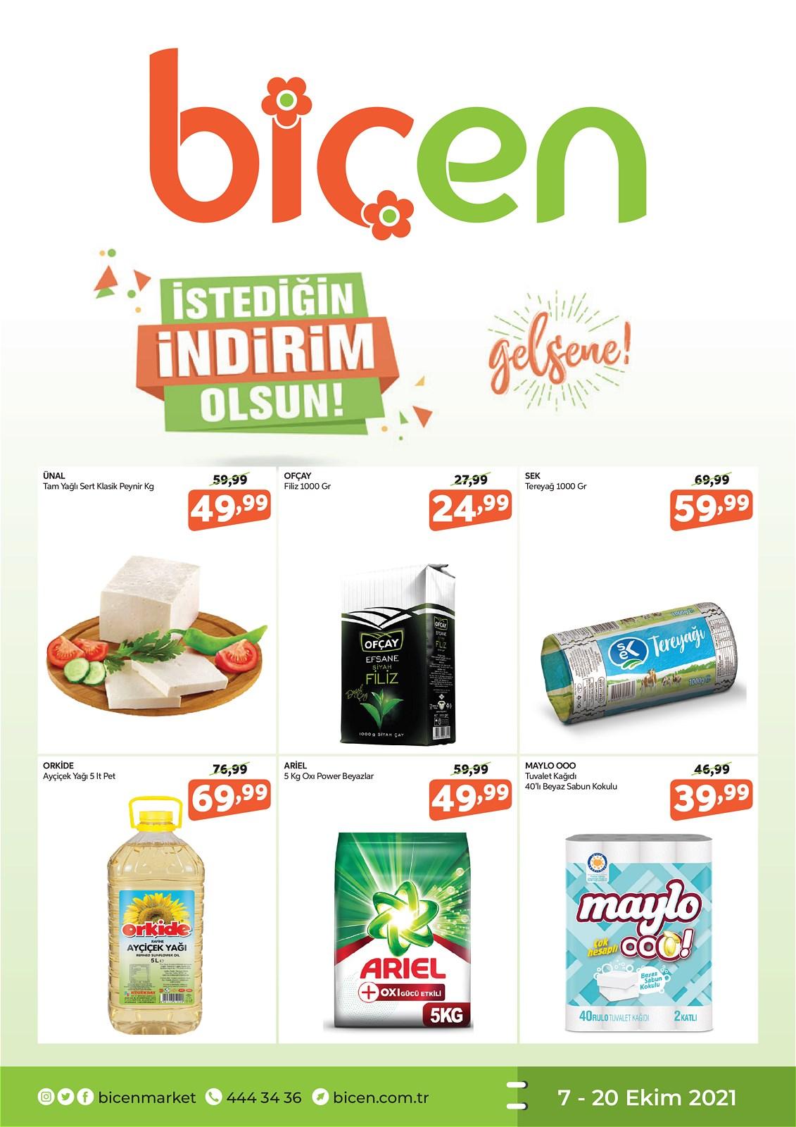 07.10.2021 Biçen Market broşürü 1. sayfa