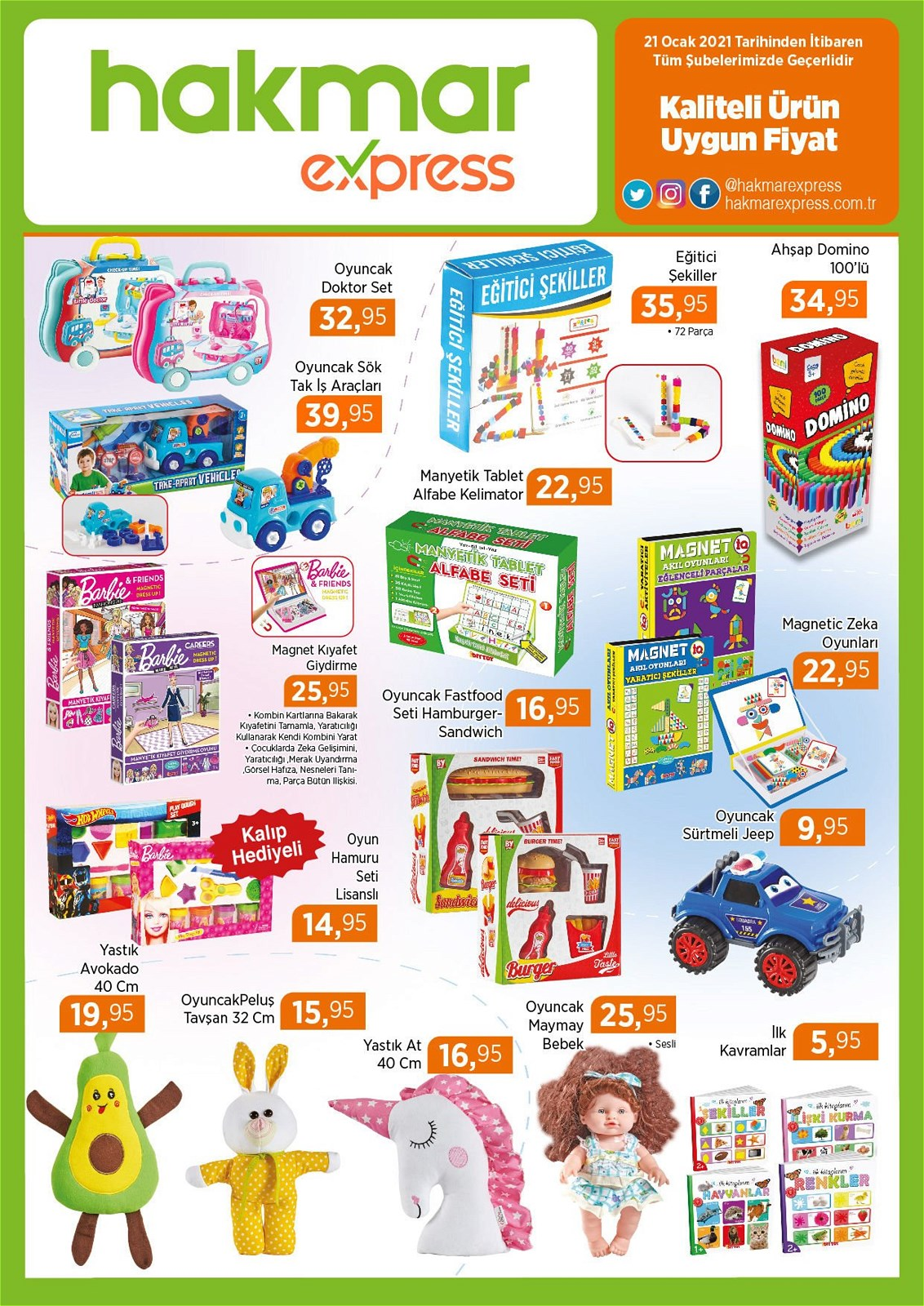 21.01.2021 Hakmar Express broşürü 5. sayfa