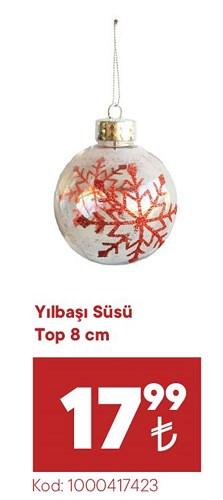 Yılbaşı Süsü Top 8 cm image