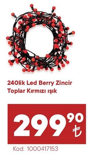 240Lik Led Berry Zincir Toplar Kırmızı Işık image
