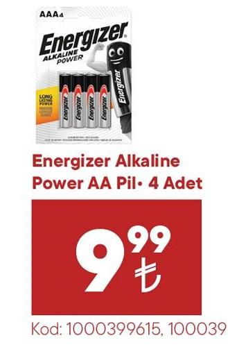 Energizer Alkaline Power AA Pil 4 Adet image