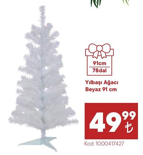 Yılbaşı Ağacı Beyaz 91 cm image