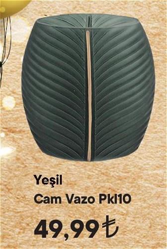 Yeşil Cam Vazo Pkl10 image