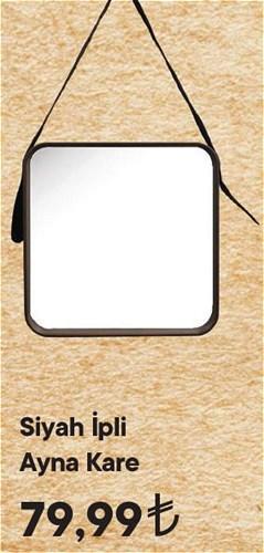 Siyah İpli Ayna Kare image