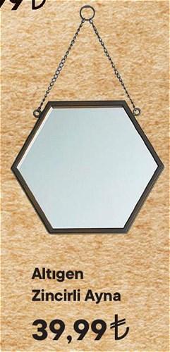 Altıgen Zincirli Ayna image
