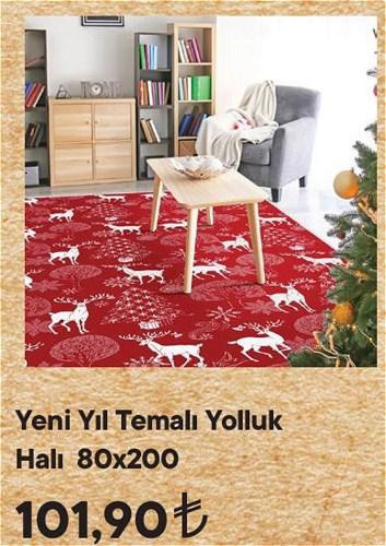 Yeni Yıl Temalı Yolluk Halı 80x200 cm image