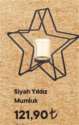 Siyah Yıldız Mumluk image