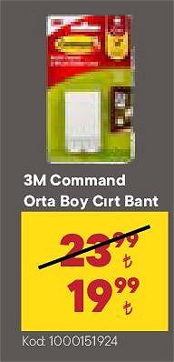 3M Command Orta Boy Cırt Bant image
