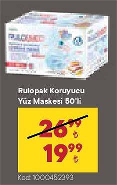 Rengarenk koruyucu Yüz Maskesi 50'li image