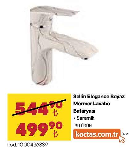 Sellin Elagance Beyaz Mermer Lavabo Bataryası  image