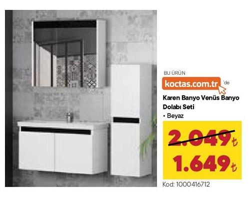 Karen Banyo Venüs Banyo Dolabı Seti Beyaz image