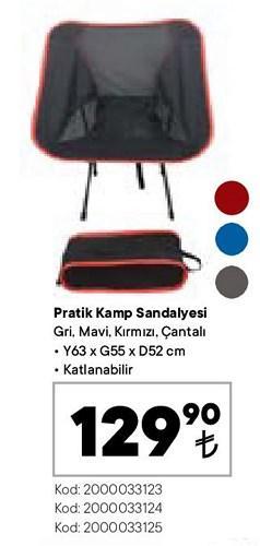 Pratik Kamp Sandalyesi 63x55x52 cm image
