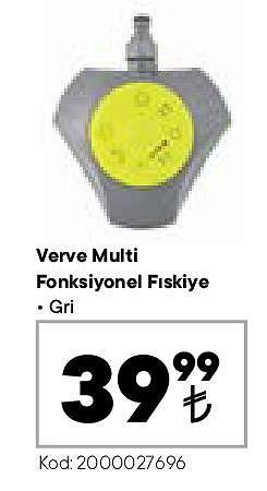 Verve Multi Fonksiyonel Fıskiye Gri image