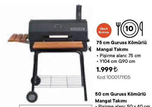 Guruss Kömürlü Mangal Takımı 75 cm image