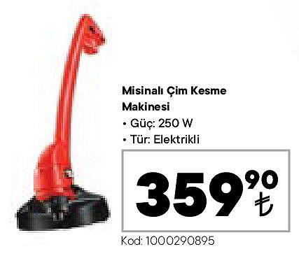 Misinalı Çim Kesme Makinesi 250 W image