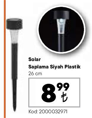 Solar Saplama Siyah Plastik 26 cm image