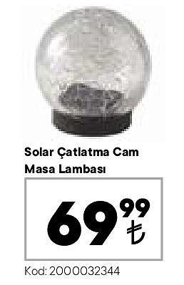 Solar Çatlatma Cam Masa Lambası image