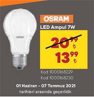 Osram Led Ampul 7 W image