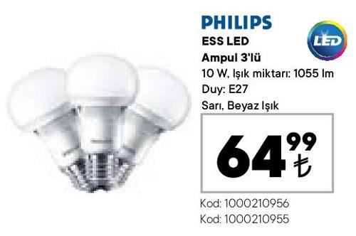 Philips ESS Led Ampul 3'lü 10 W image
