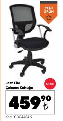 Jazz File Çalışma Koltuğu Kırmızı image