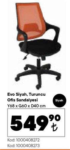 Evo Ofis Sandalyesi Siyah image