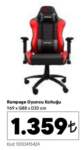 Rampage Oyuncu Koltuğu image