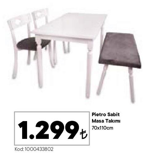Pietro Sabit Masa Takımı 70x110 cm image