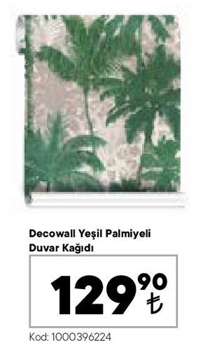 Decowall Yeşil Palmiyeli Duvar Kağıdı image