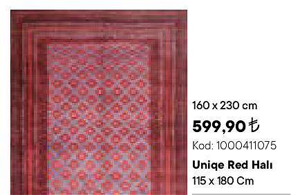 Uniqe Red Halı 160x230 cm image