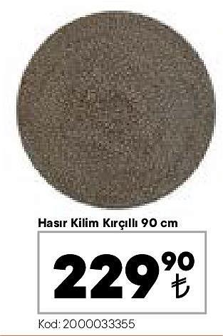 Hasır Kilim Kırçıllı 90 cm image