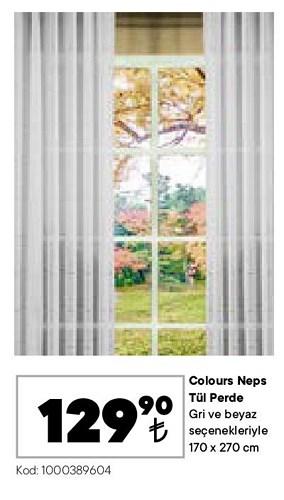 Colours Neps Tül Perde 170x270 cm image