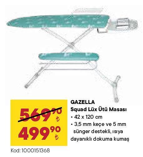 Gazella Squad Lüx Ütü Masası 42x120 cm image
