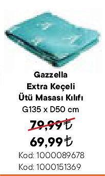 Gazelle Extra Keçeli Ütü Masası Kılıfı G135xD60 cm image