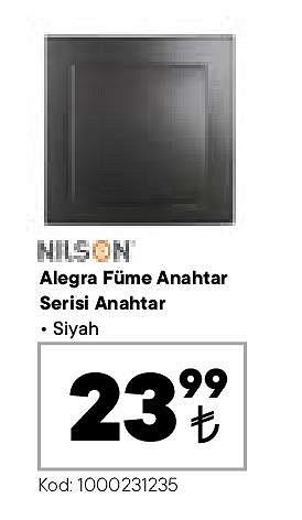 Nilson Alegra Füme Anahtar Serisi Anahtar Siyah image