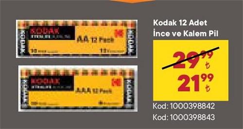 Kodak 12 Adet İnce ve Kalem Pil image