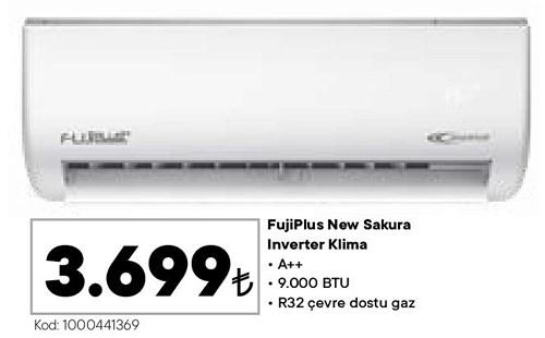 FujiPlus New Sakura Inverter Klima A++ 9000 Btu image