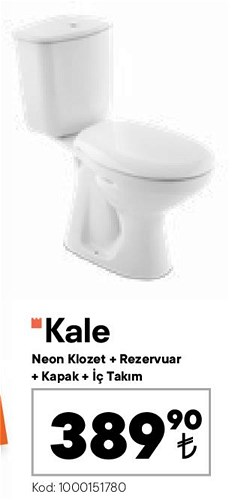 Kale Neon Klozet+Rezervuar+Kapak+İç Takım image