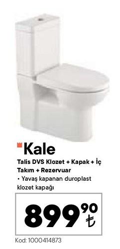 Kale Talis DVS Klozet+Kapak+İç Takım+Rezervuar image