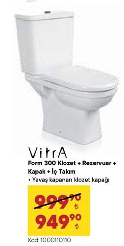 Vitra Form 300 Klozet+Rezervuar+Kapak+İç Takım image