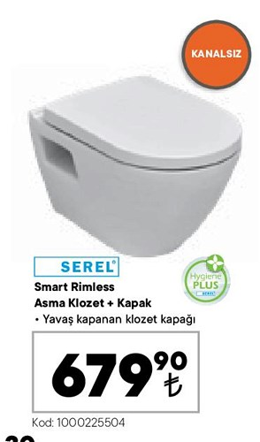 Serel Smart Rimless Asma Klozet+Kapak image