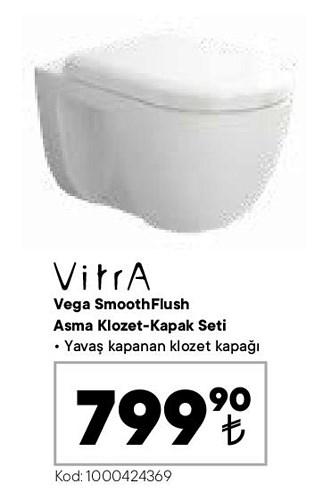 Vitra Vega SmoothFlush Asma Klozet Kapak Seti image