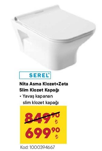 Serel Nita Asma Klozet+Zeta Slim Klozet Kapağı image