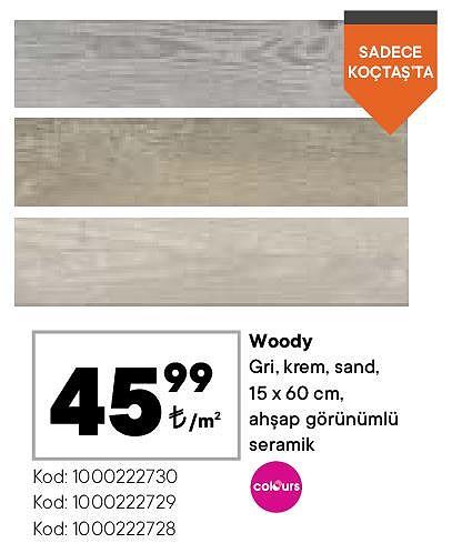 Colours Woody 15x60 cm m² image