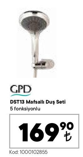 GPD DST13 Mafsallı Duş Seti  image