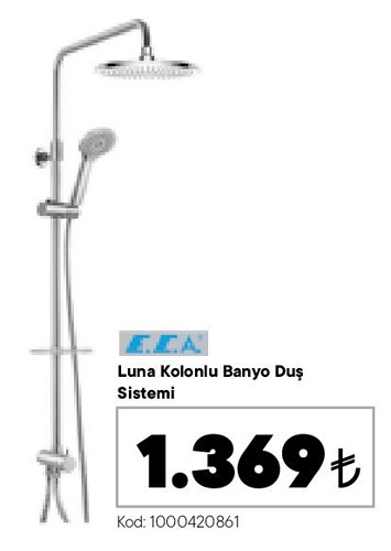 ECA Luna Kablolu Banyo Duş Sistemi image