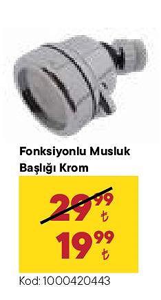 Fonksiyonlu Musluk Başlığı Krom image