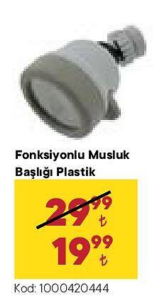 Fonksiyonlu Musluk Başlığı Plastik image