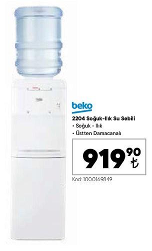 Beko 2204 Soğuk Ilık Su Sebili image