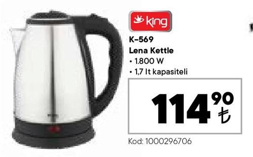 King K-569 Lena Kettle 1800 W image